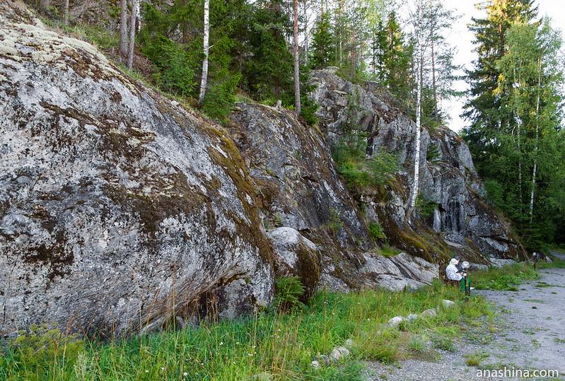 Древние горные породы, Гора Филина, Хуухканмяки, Карелия