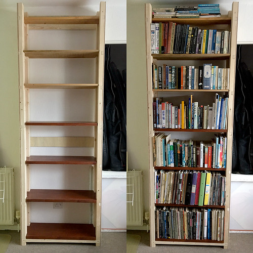 Bookcase - Empty and Full