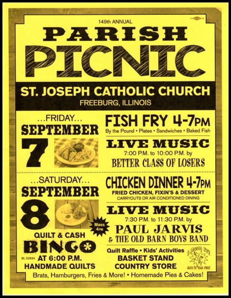 St Joseph Picnic 9-7, 9-8-18