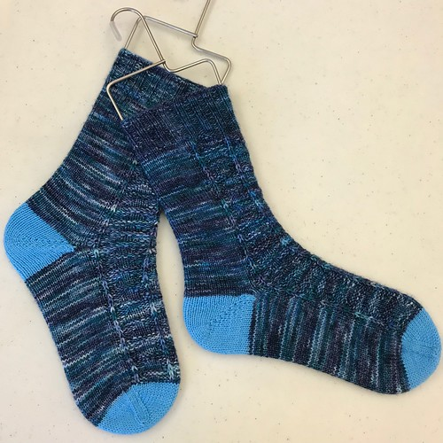 Nik's Coddiwomple Socks by Knitting Expat!