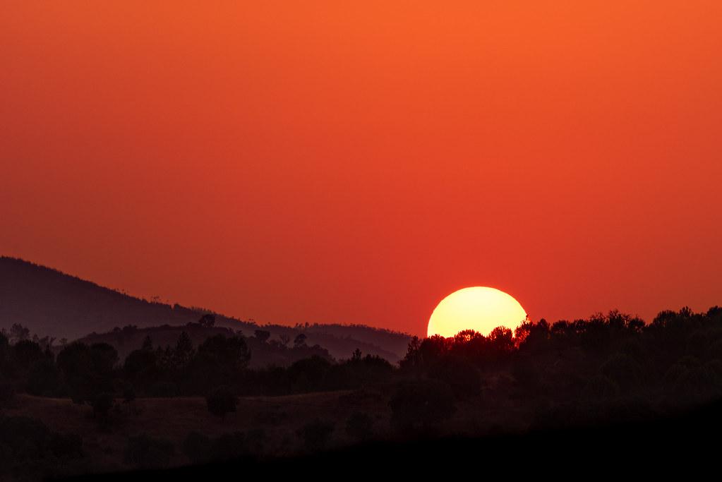 Hazy Sunset in the Algarve