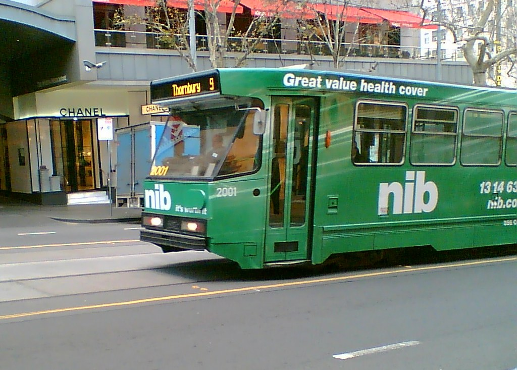Tram route 9 in Collins Street