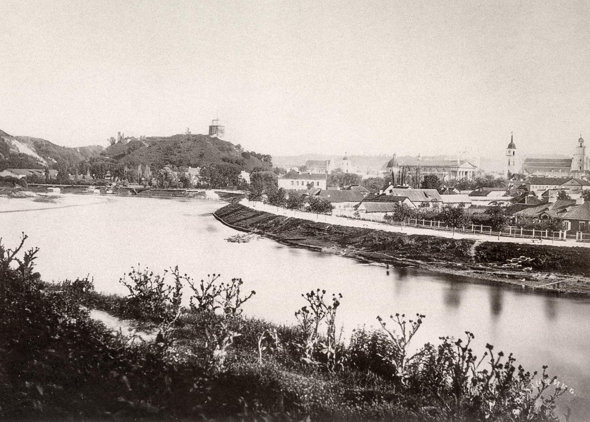 Панорама города от предместья Снипишки. 1865
