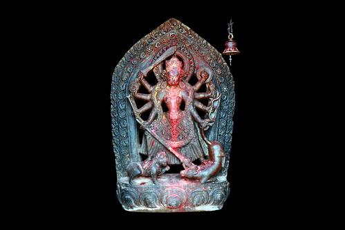Nepal - Kirtipur - Uma Maheshwar Temple - Goddess Durga - 18d