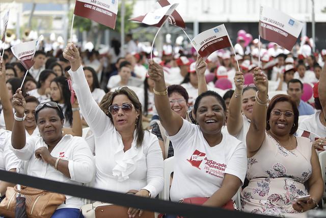 Declaratoria de Libre de Analfabetismo en San Salvador.
