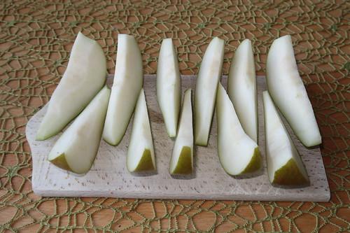 Aufgeschnittene Birne