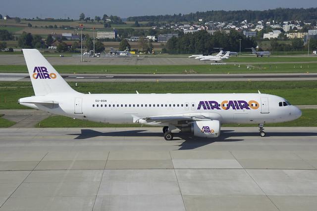 Air Cairo Airbus A320-214; SU-BSN@ZRH;09.09.2018