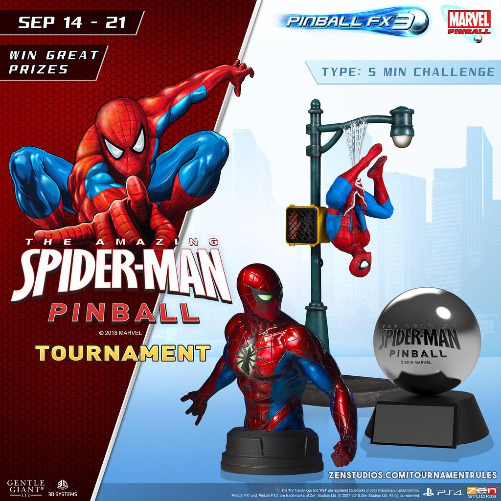 Spider-Man Pinball FX3 Tournament