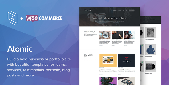 Atomic v2.2.8 – Bold Business and Portfolio WordPress Theme