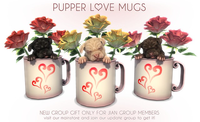 JIAN *NEW* Group Gift :: Pupper Love Mugs