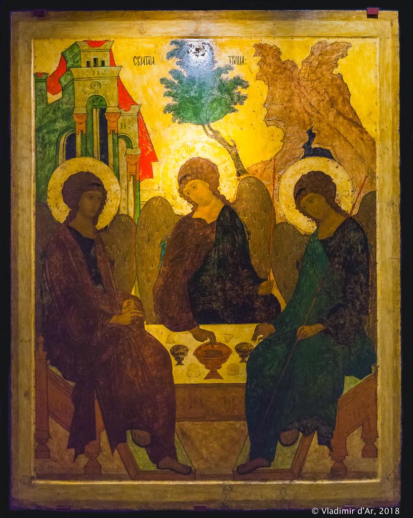 Троица Живоначальная. 1484-1485. Старец Паисий.