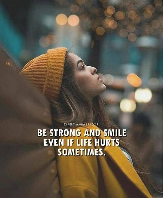 Positive Quotes Be Strong And Smile Positive Quotes Flickr