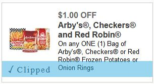 image regarding Checkers Coupons Printable named $1/1 French Fries coupon: Conserve upon Checkers, Crimson Robin or Arbys