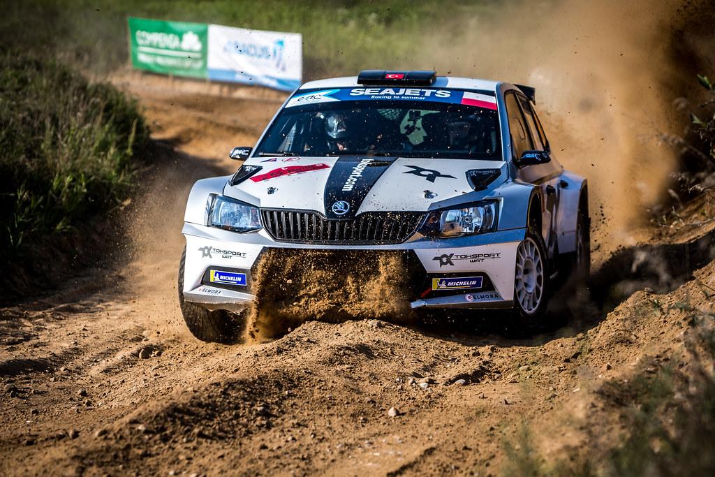 08 AVCIOGLU Orhan (TUR), KORKMAZ Burcin (TUR), TOKSPORT WRT, Skoda Fabia R5, action during the 2018 European Rally Championship Rally Poland at Mikolajki from September 21 to 23 - Photo Thomas Fenetre / DPPI