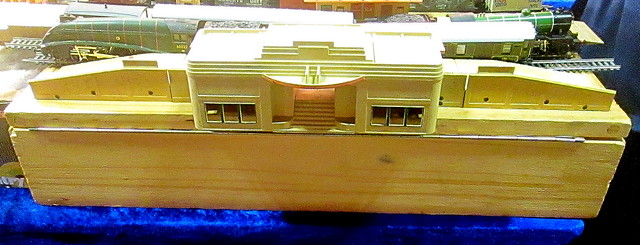 Model of Art Deco Railway Station