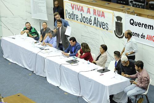 Audiência pública para discutir a alteração do nome da rua Angola, no bairro São Paulo, que passou a se chamar rua Padre José Alves de Oliveira - 2ª Reunião Extraordinária - Comissão de Legislação e Justiça