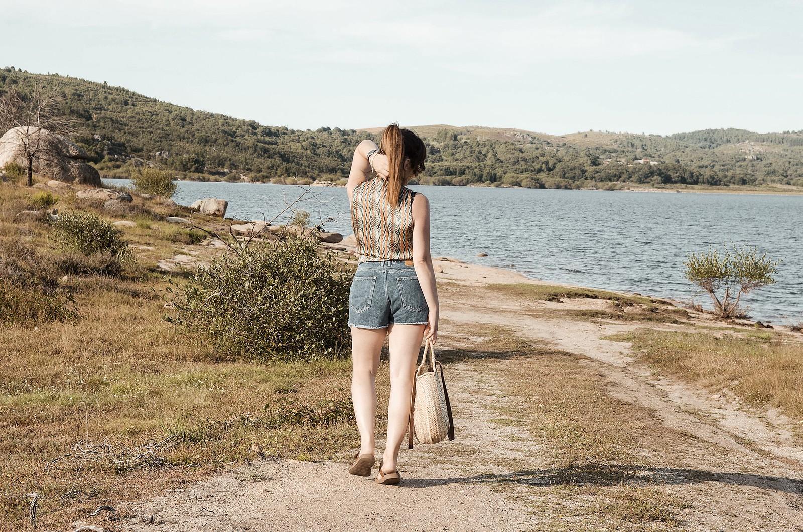 Look para ir a una playa fluvial