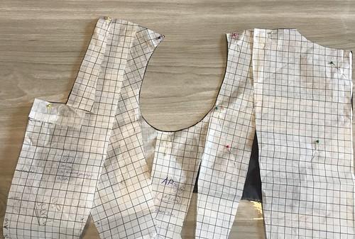 canvas proefjurk beleg vierkante hals