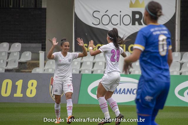 Santos 2 x 1 São José. Jogo válido pelo Campeonato Paulista Feminino de 2018, realizado no dia 8 de setembro, na Vila Belmiro
