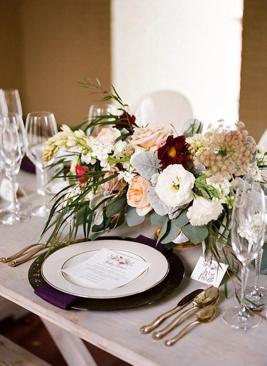 Weddings Flower Arrangements : fresh spring wedding table decor ideas