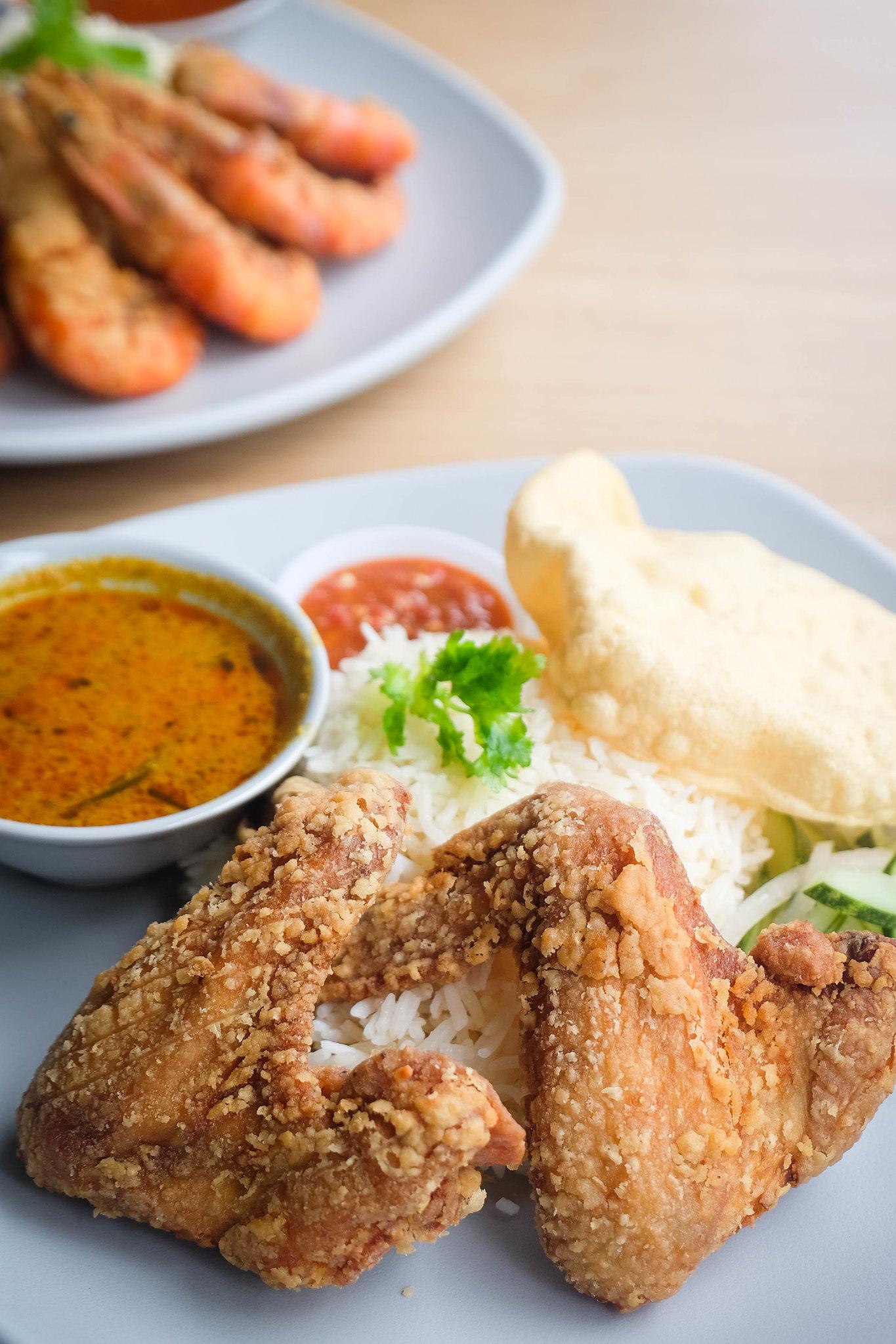 Nasi Beringin chicken close up