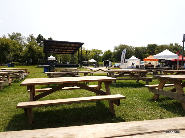 Stouffville ribfest seating area