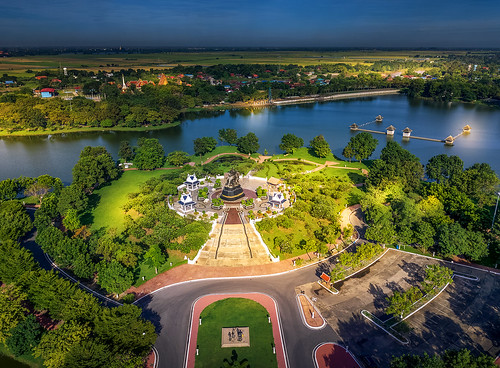 ayutthaya ayudhya thailand mavic pro sunrise