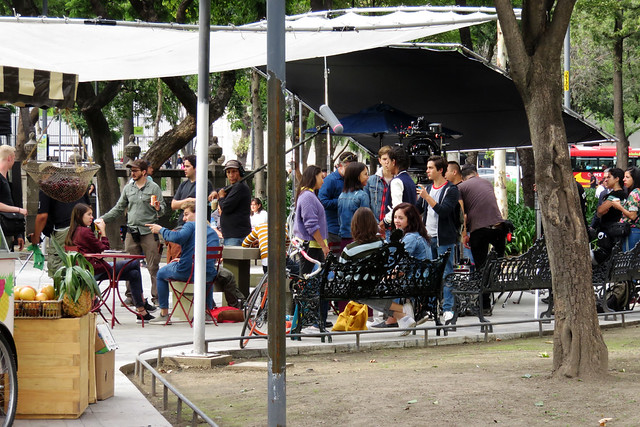 Filmación en la Alameda Central