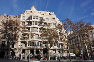"Barcelona (Passeig de Gràcia / Provença street). Milà House aka ""La Pedrera"". 1906-1912. Antoni Gaudí, architect"