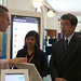 President Nakao visits the Digital Experience Gallery