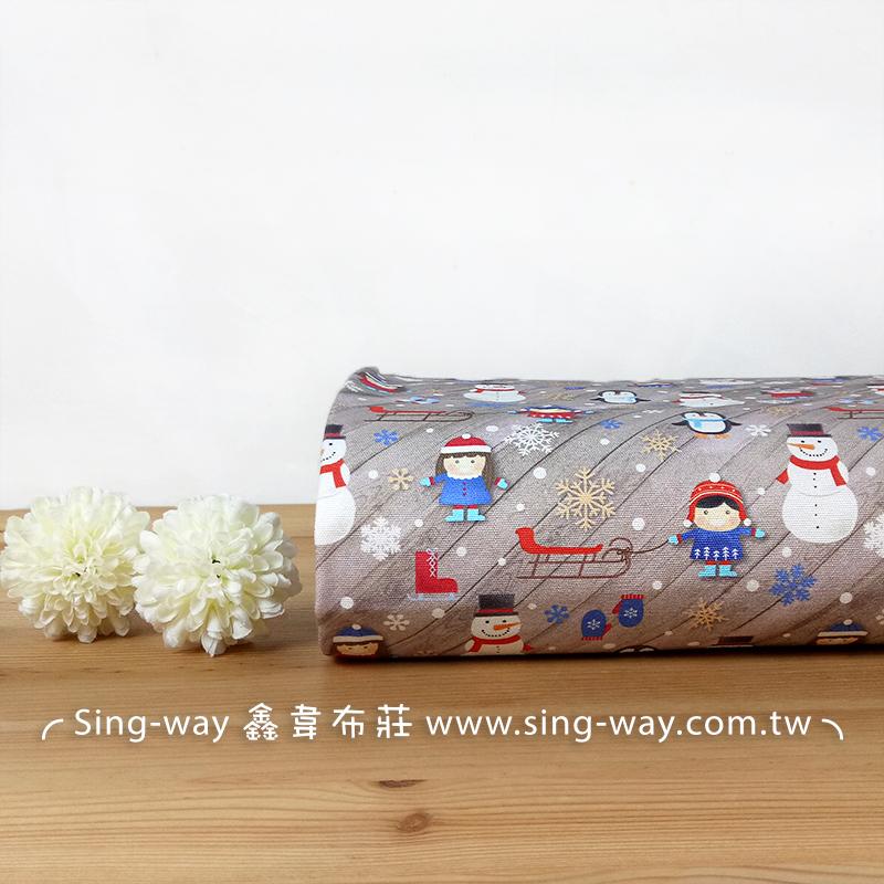 獨家新款 聖誕 雪人 雪橇 雪花 企鵝 襪子 手工藝DIY布料 CA1290037