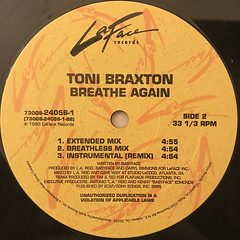 TONI BRAXTON:BREATHE AGAIN(LABEL SIDE-B)