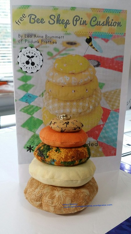 Completed project Bee Skep Pin Cushion