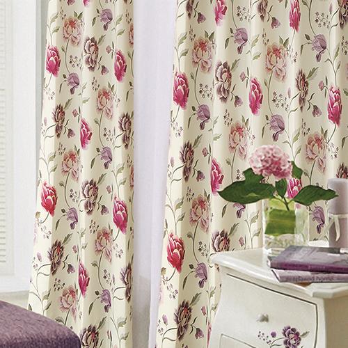 萬花嬉春(獨家) 高貴花卉 典雅風格 防光(遮光)窗簾布 DA1390041