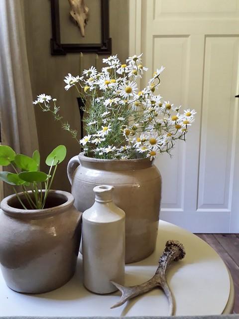 Keulse potten met bloemen