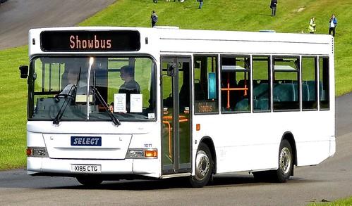X185 CTG 'Select' No. 101. Dennis Dart SLF / Plaxton MPD on Dennis Basford's railsroadsrunways.blogspot.co.uk'