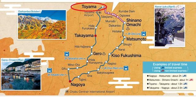 JR map toyama