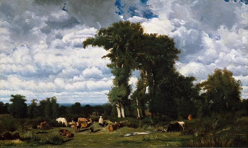 Jules Dupré - Paysage avec du bétail au Limousin (1837)