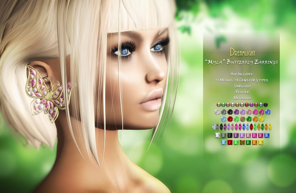 [Dreamlight] Butterfly Earrings // On9 September