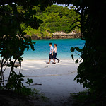 Japanese couple wandering on Kabira bay, Yaeyama Islands, Ishigaki-jima, Japan Japanese couple wandering on Kabira bay, Yaeyama Islands, Ishigaki-jima, Japan