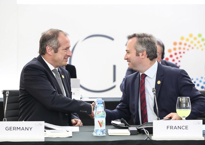 Oliver WITTKE, subsecretario de Estado Parlamentario del Ministerio Federal de Asuntos Económicos y Energía de Alemania y Jean-Baptiste LEMOYNE, ministro de Estado para Asuntos Europeos y Exteriores de Francia - Reunión ministerial de Comercio e Inversion