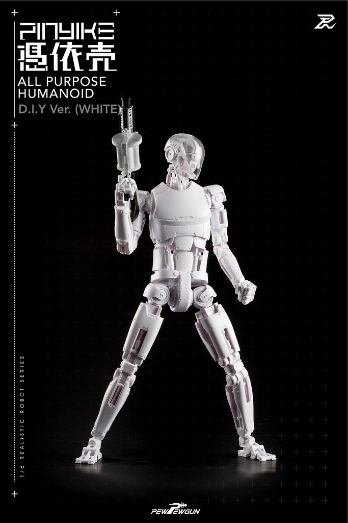 更大的自由度!! PEW PEW GUN【1/6 機械人形素體-憑依壳 DIY版本】1/6 scale Robotic Nude Body-Pinyike DIY ver