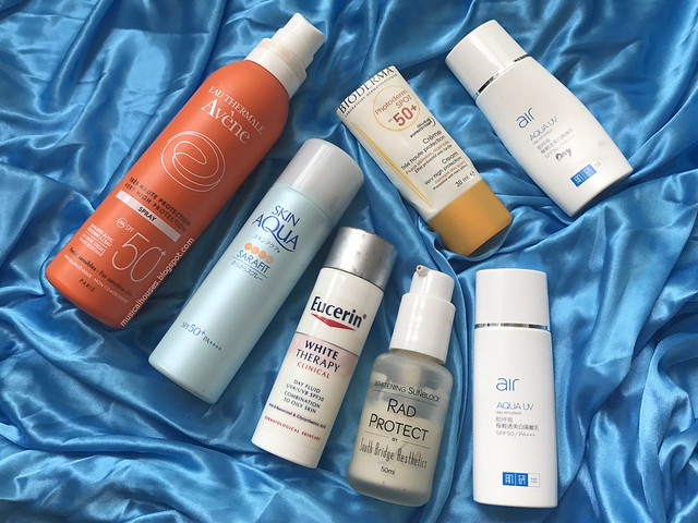 Empties Sunscreen Hada Labo Bioderma Avene