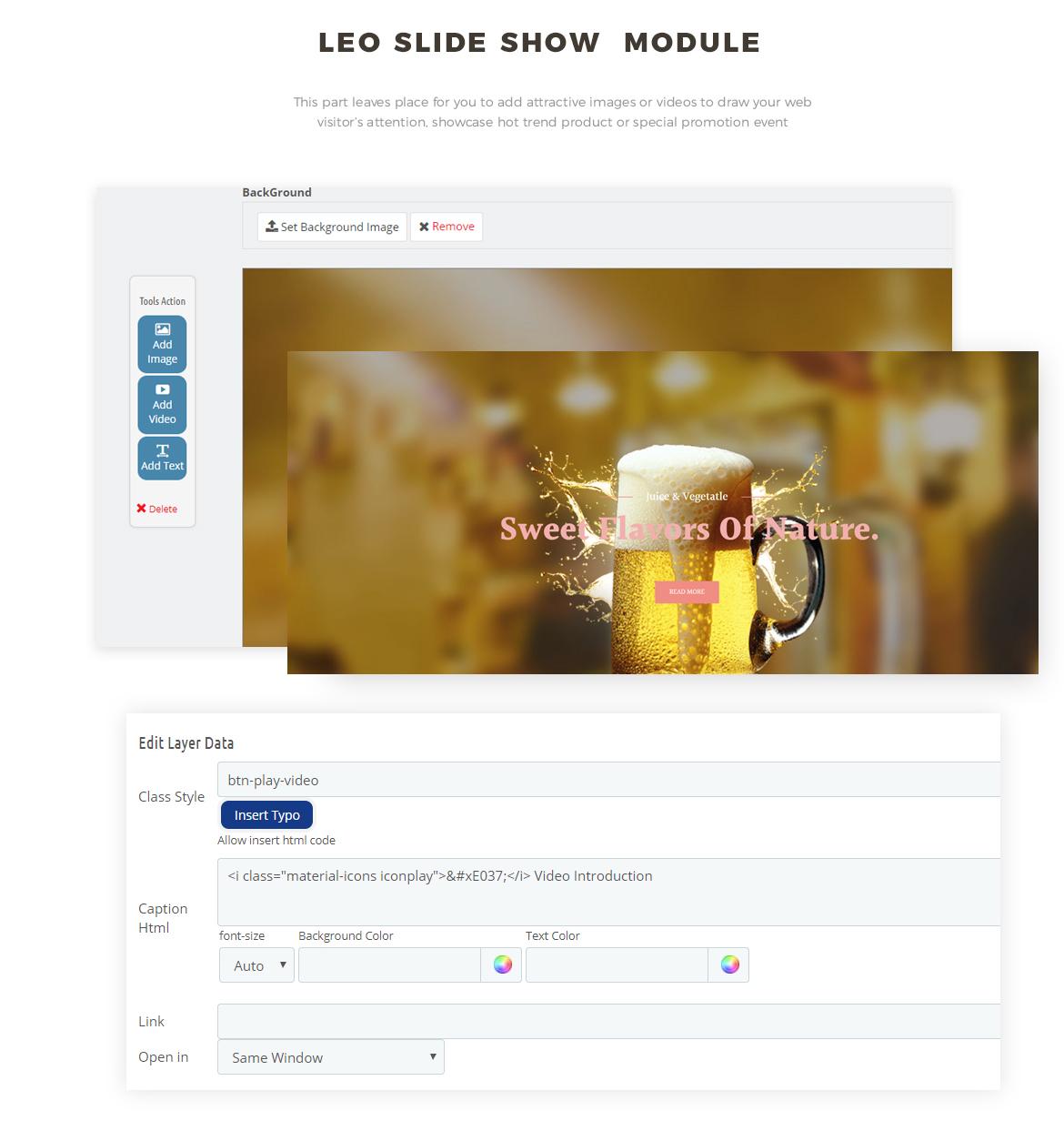 slideshow module - Drink, Beer, Wine store