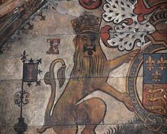 lion (detail, Elizabeth I royal arms, 1587)