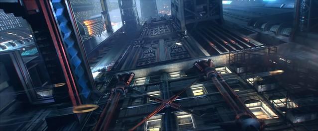 Кіберпанк 2077 - міський пейзаж