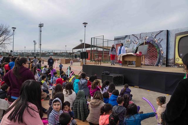 """Obra teatral """"Dinosaurios la evidencia"""" Parque Humedal Los Batros"""