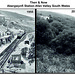 Then and now Abergwynfi  Railway station South Wales by Peter Brabham