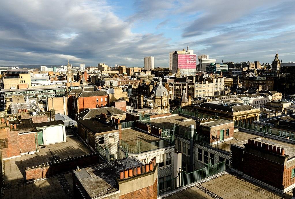 Hébergement à Glasgow : Vue panoramique sur le centre de la ville.