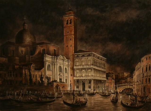 Александр Серебряков «Костюмированный бал в Палаццо Лабиа. Венеция» 1952